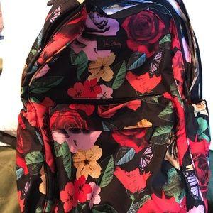 Vera Bradley Campus Backpack - Black w/floral